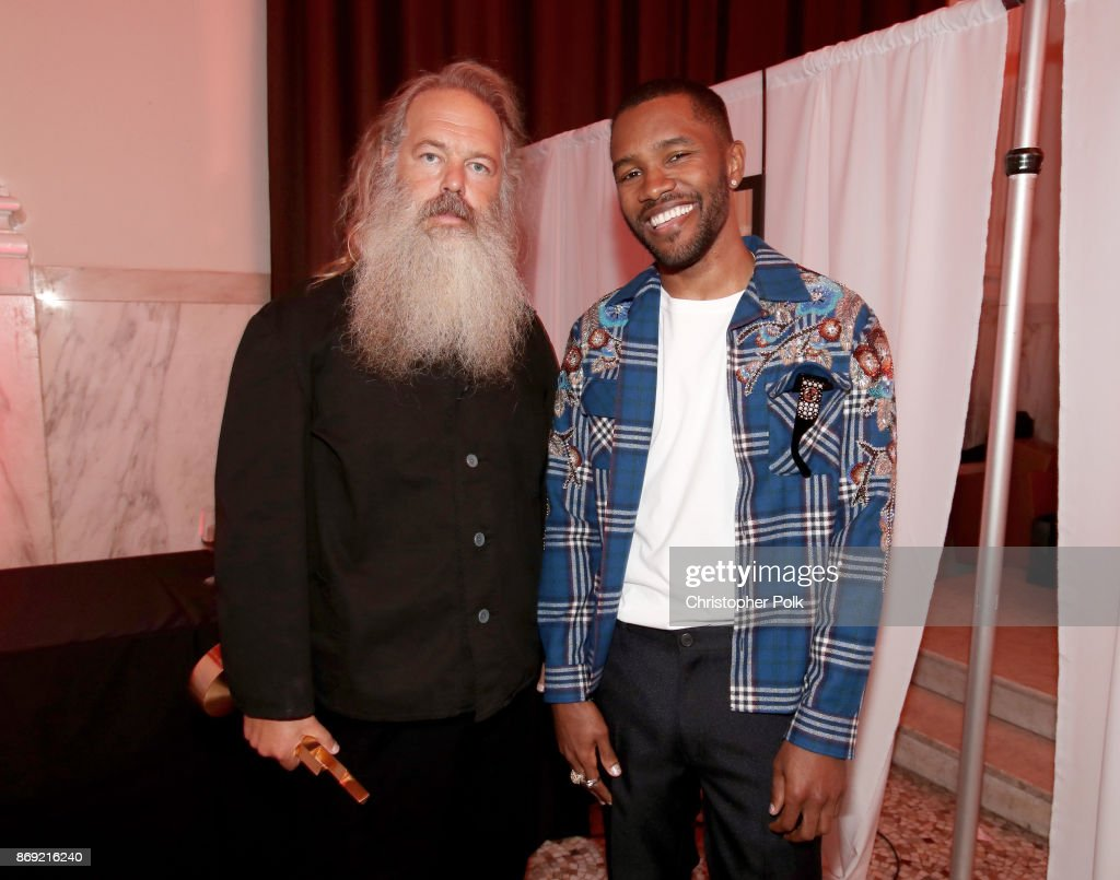 Legendary Genius Award winner Rick Rubin (L) and Frank Ocean attend Spotify's Inaugural Secret Genius Awards hosted by Lizzo at Vibiana on November 1, 2017 in Los Angeles, California.