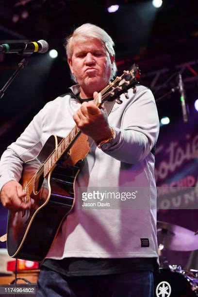 Legendary Golfer John Daly performs on stage during the Tootsie's 59th Annual Birthday Bash at Tootsie's Orchid Lounge on October 9 2019 in Nashville...