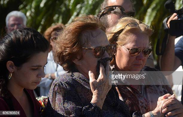 Legendary guerrilla leader Ernesto 'Che' Guevara's widow Aleida March and his daughter Aleida Guevara pay their last respects to Cuban revolutionary...