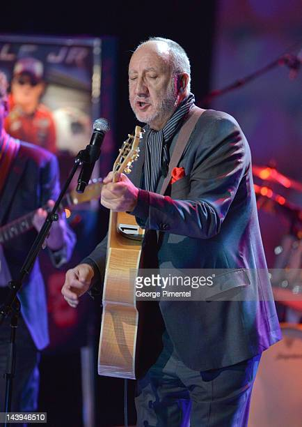 Legendary guitarist Pete Townshend performs at the National Arts Centre in Ottawa Canada on the occasion of Des McAnuff receiving a Governor...