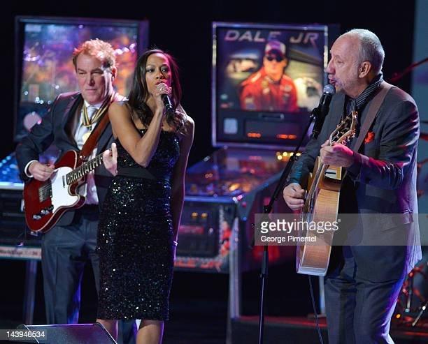 Legendary guitarist Pete Townshend performs with Tony Awardwinning actress Nikki James and Des McAnuff Director of Jesus Christ Superstar at the...