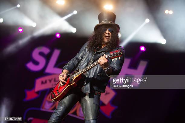 Legendary Guitarist Saul Slash Hudson performs during his Belsonic 2019 Show in Belfast
