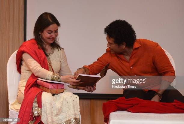 Legendary Indian cricketer Sachin Tendulkar and his wife Anjali Tendulkar attended the launch of a book on child health care titled 'Even When There...