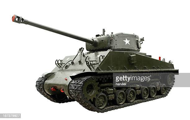 legendary m4 sherman tank - armored tank stock photos and pictures