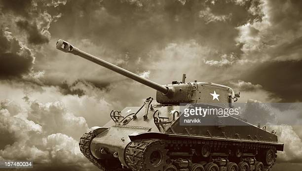 legendary m4 sherman tank - general sherman stock photos and pictures