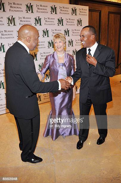 Legendary Muhammad Ali Photojournalist Howard Bingham and Linda McCoy Murray President/Founder of the Jim Murray Memorial Foundation and Hall of Fame...