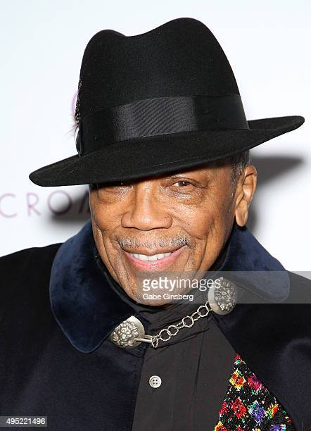 Legendary music producer Quincy Jones attends THRILLER featuring hiphop artist Chris Brown at Drai's Nightclub at The Cromwell on October 31 2015 in...