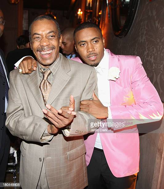 Legendary Musican Olu Dara and his son Nas celebrate Nas 40th Birthday Celebration Dinner And Party at Avenue NYC on September 12, 2013 in New York...