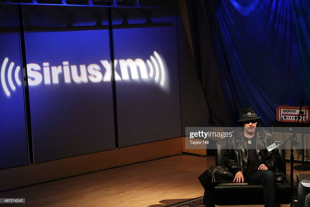 Legendary musician Carlos Santana visits the SiriusXM studios for 'SiriusXM ICONOS with Carlos Santana' on October 14, 2014 in Washington, DC.
