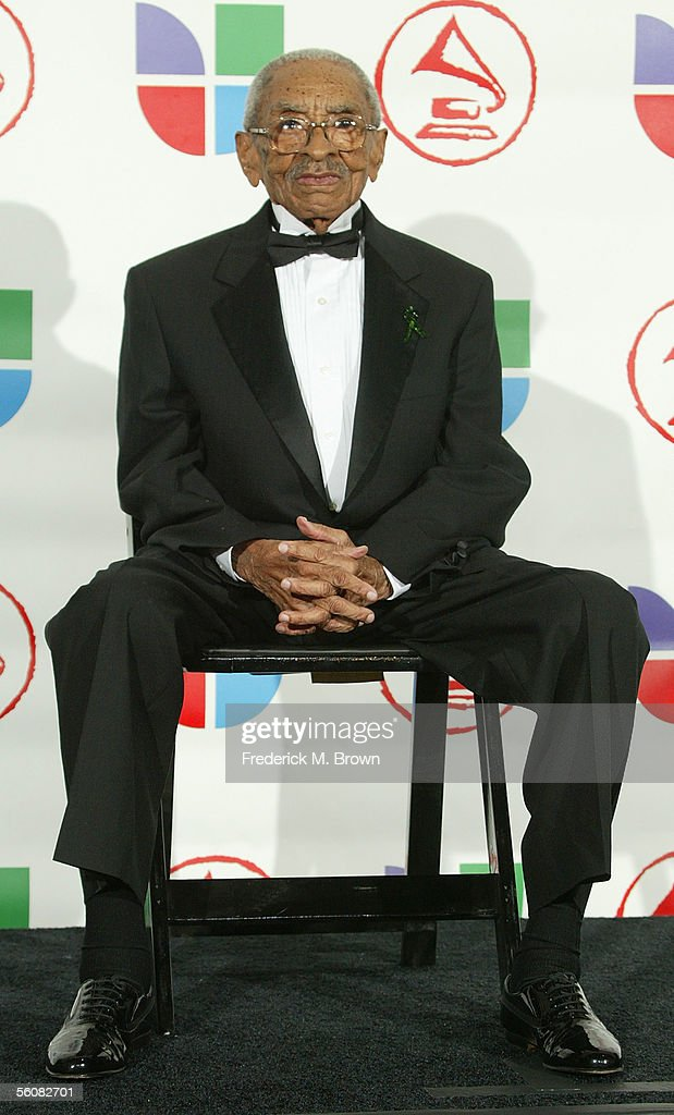 Legendary musician Generoso Jimenez poses in the press room at the 6th Annual Latin Grammy Awards at the Shrine Auditorium on November 3, 2005 in Los Angeles, California.
