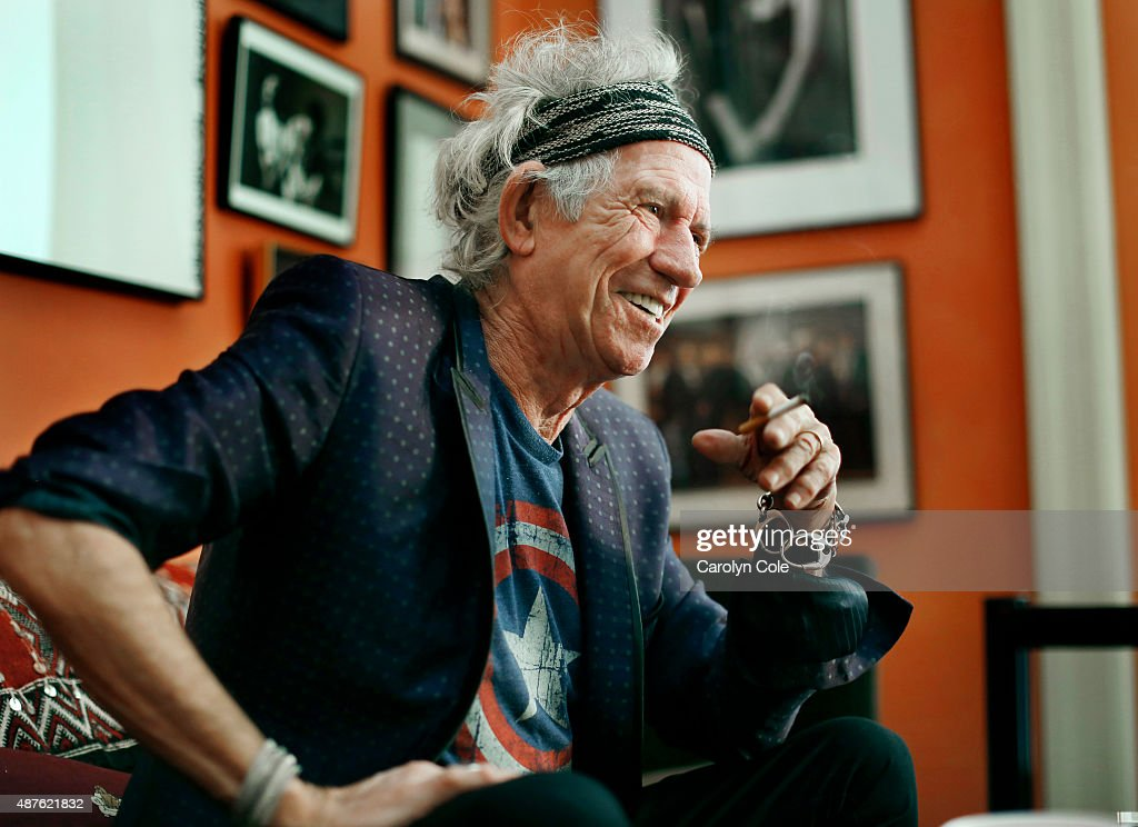 Legendary musician Keith Richards is photographed for Los Angeles Times on September 5, 2015 in New York City. PUBLISHED IMAGE.