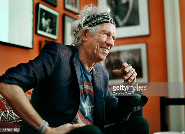 Legendary musician Keith Richards is photographed for Los Angeles Times on September 5 2015 in New York City PUBLISHED IMAGE CREDIT MUST BE Carolyn...