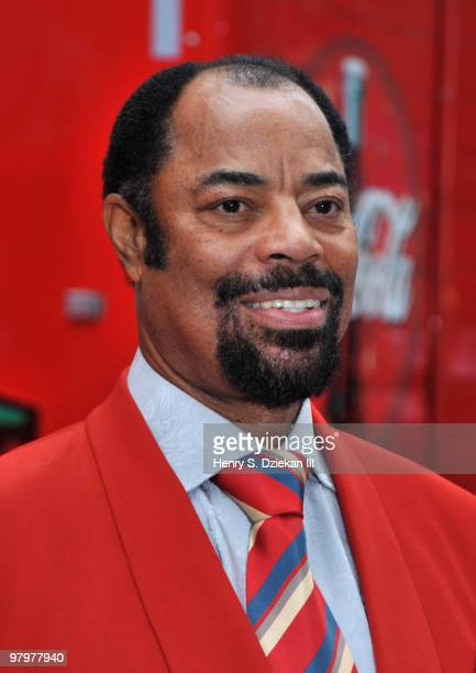 "Legendary NY Knick Walt ""Clyde"" Frazier attends the MSG & Coca-Cola 100 years of partnership celebration at Madison Square Garden on March 23, 2010..."