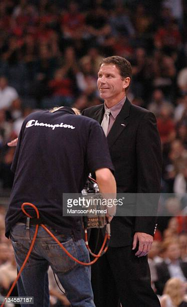 Legendary player Kiki Wanderweghe gets introduced to the crowd during the NBA Europe Live Tour presented by EA Sports on October 10 2006 at the Koeln...