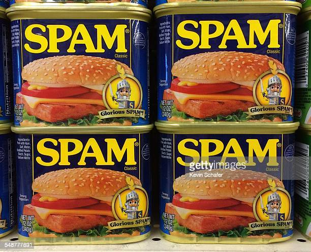 SPAM legendary processed meat in a can