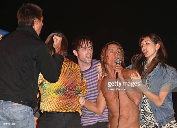 Legendary punk icon Iggy Pop and his band the Stooges pefrorm as part of opening night at Art Basel on December 5 2007