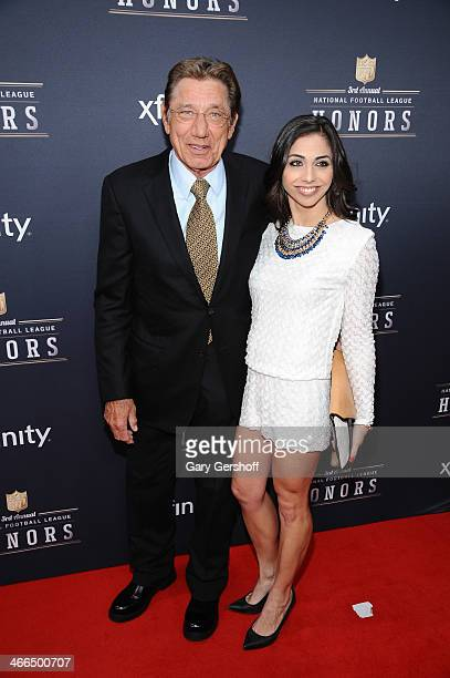 Legendary quarterback Joe Namath and daughter Jessica Namath attend the 3rd Annual NFL Honors at Radio City Music Hall on February 1 2014 in New York...