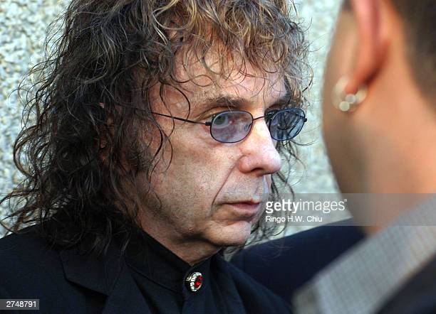 Legendary record producer Phil Spector leaves Alhambra Superior Court after his arraignment on one count of murder November 20, 2003 in Alhambra,...