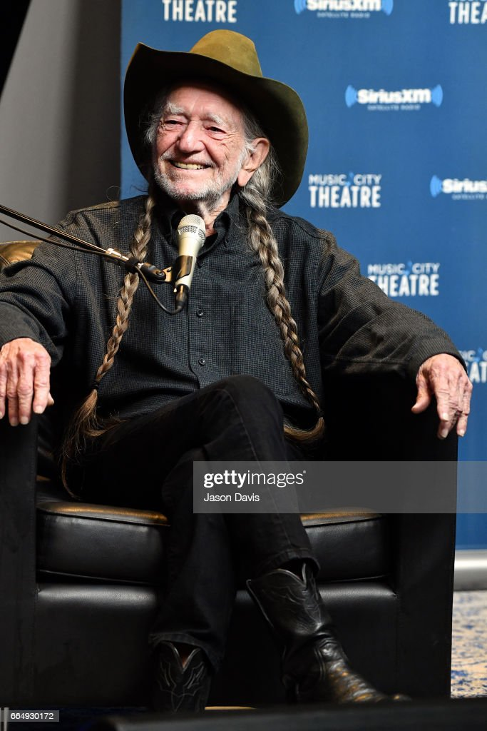 "Willie Nelson Discusses ""God's Problem Child"" During An Album Premiere Special On His SiriusXM Channel Willie's Roadhouse At SiriusXM's Music Theatre In Nashville : News Photo"
