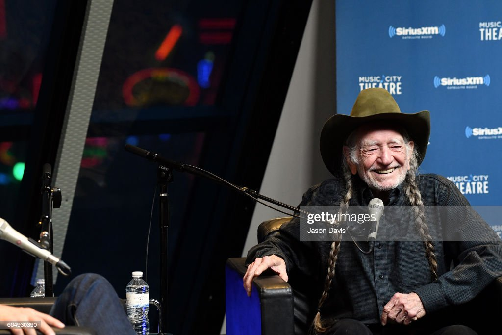 Willie Nelson Discusses 'God's Problem Child' During An Album Premiere Special On His SiriusXM Channel Willie's Roadhouse At SiriusXM's Music Theatre In Nashville : News Photo