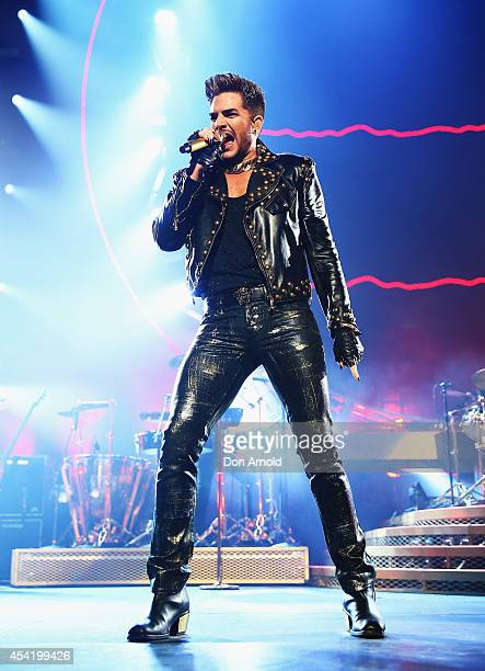 Legendary rock band QUEEN and Adam Lambert perform during the first QUEEN tour of Australia since 1985 at Allphones Arena on August 26 2014 in Sydney...