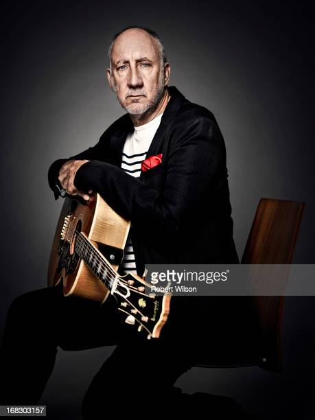 Legendary rock star and guitarist of the Who Pete Townshend is photographed for the Times on September 11 2012 in London England