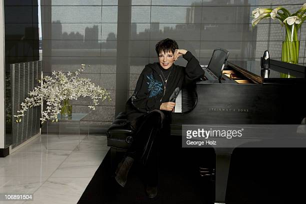 Legendary singer and actress Liza Minnelli poses for a portrait session on October 11 2010 at her home in Manhattan New York NY