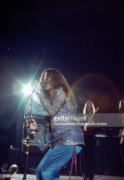 Legendary singer Janis Joplin performs at the Winterland Ballroom in San Francisco