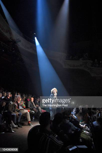 Legendary singerJane Birkin performed during the Gucci Spring/Summer 2019 fashion show held at Theatre Le Palace in Montmartre