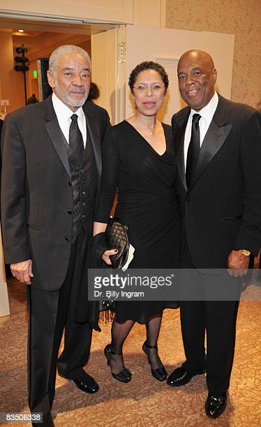 Legendary Songwriter/Singer Bill Withers and his wife Marcia Withers and Legendary Muhammad Ali Photojouralist Howard Bingham attend the Jim Murray...