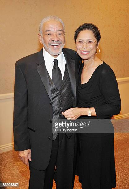 Legendary Songwriter/Singer Bill Withers and his wife Marcia Withers attend the Jim Murray Memorial Foundation's Legend Of Sports And Media Awards at...