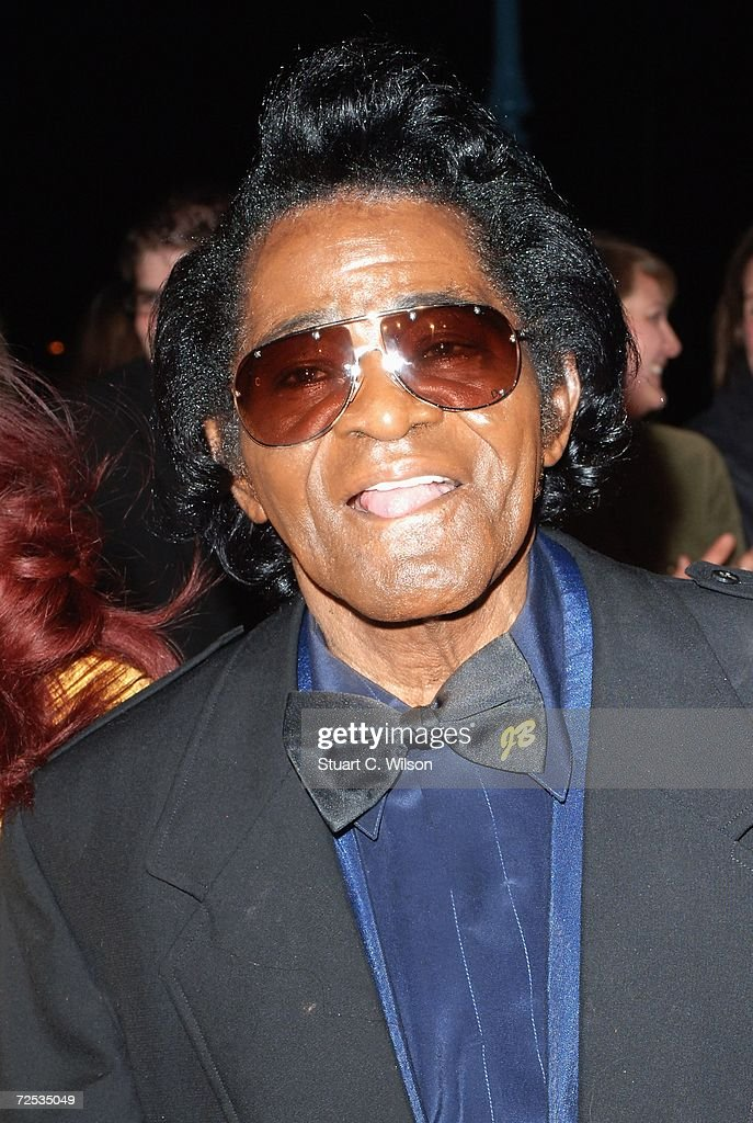 Legendary soul singer James Brown arrives at the UK Music Hall Of Fame 2006, at Alexandra Palace on November 14, 2006 in London, England.