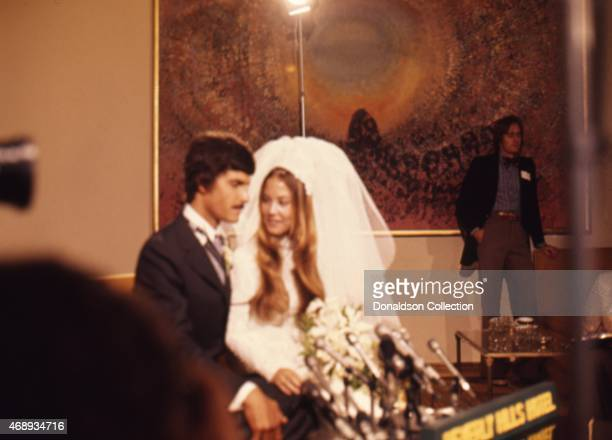 Legendary swimmer Mark Spitz marries Suzy Weiner at the Beverly Hills Hotel on May 6 1973 in Los Angeles California