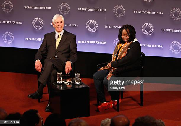 Legendary television host Sonny Fox and Actress/comedienne Whoopi Goldberg speak during Sonny Fox Forty Years In Television A Conversation With...