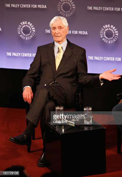 Legendary television host Sonny Fox speaks during Sonny Fox Forty Years In Television A Conversation With Whoopi Goldberg at The Paley Center for...