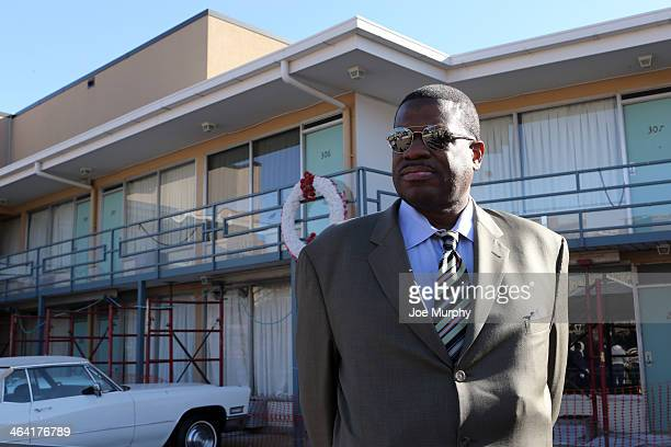 Legends JoJo White and Bernard King tour the exhibits on January 20 2014 at the National Civil Rights Museum at the Lorraine Motel in Memphis...