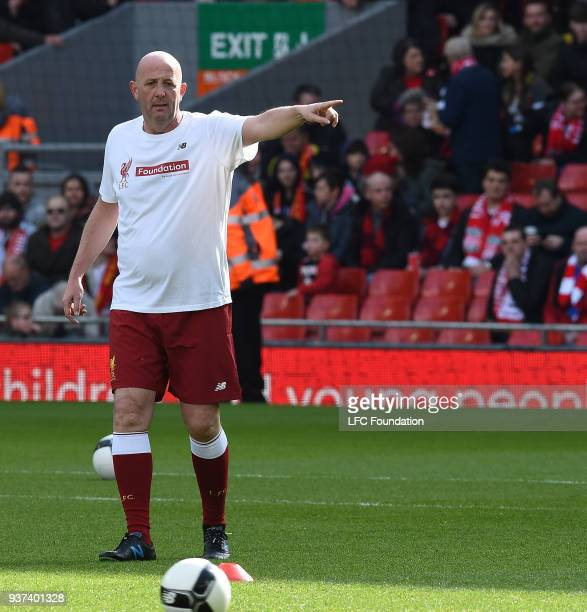 Legends of Liverpool Gary McAllister before the LFC Foundation charity match between Liverpool FC Legends and FC Bayern Legends at Anfield on March...
