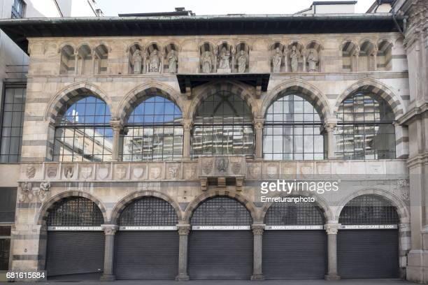 leggia degli osii building,milan. - emreturanphoto stock pictures, royalty-free photos & images