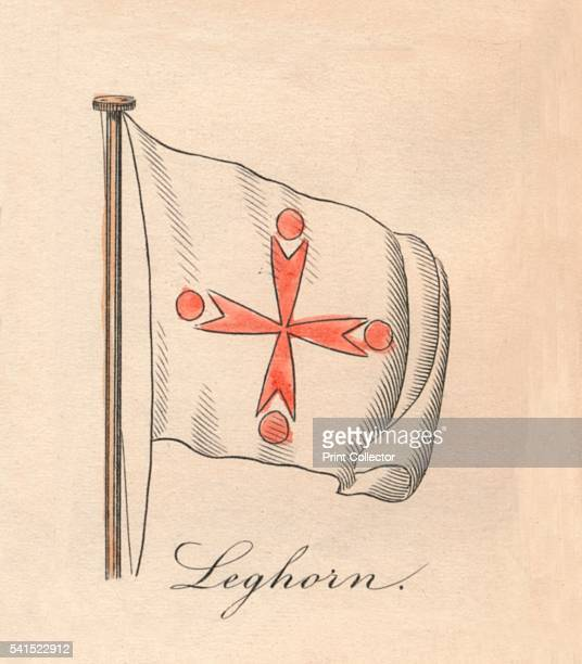 Leghorn' 1838 From A Display of the Naval Flags of All Nations Collected from the Best Authorities [Fisher Son Co London 1838] Artist Unknown