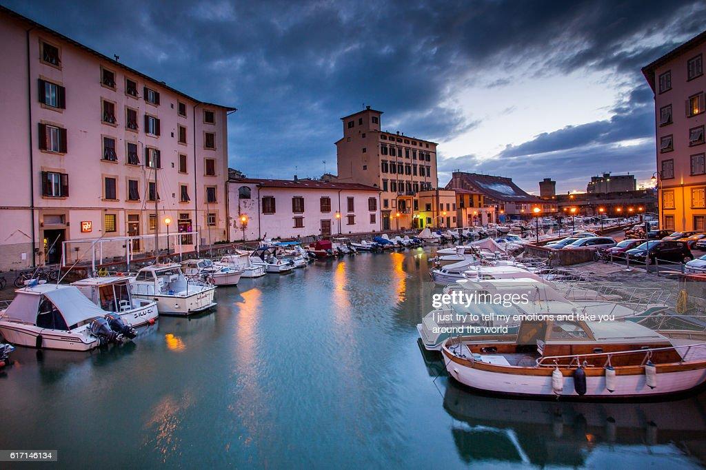 Leghorn, Disctrict of Venice, Tuscany : Stock Photo