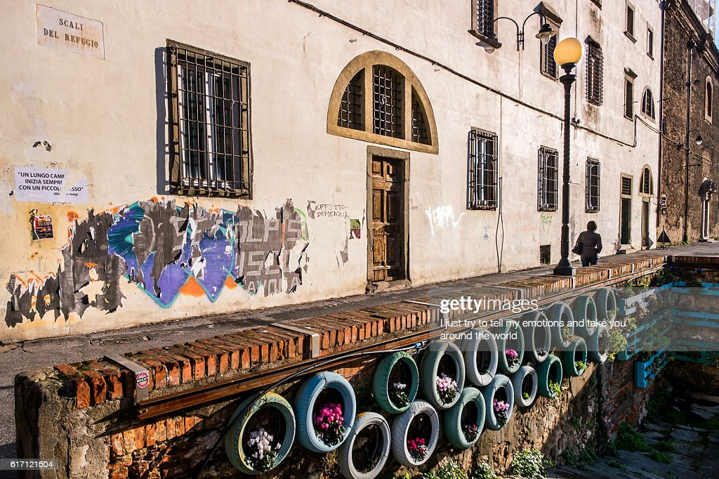 Leghorn, The district of Venice : Stock Photo