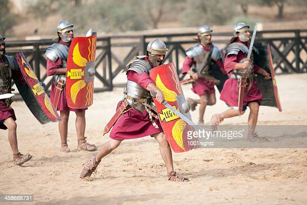legion attacking - jerash, jordan - roman army stock pictures, royalty-free photos & images