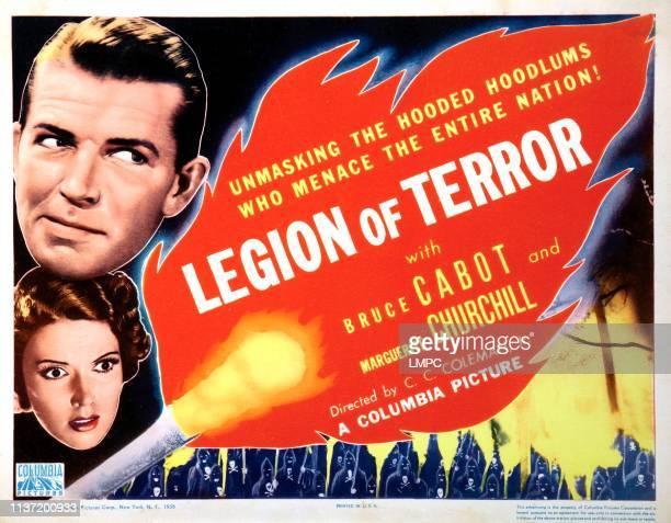 Legion Of Terror lobbycard Bruce Cabot Marguerite Churchill 1936