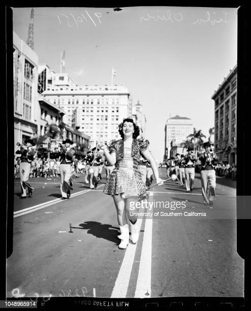 Legion San Diego 10 September 1951 Governor Earl WarrenGeneral view of crowdNorman M Lyons Burr BeldenJohn D HomePauline Dunn Mrs Billie Lou...