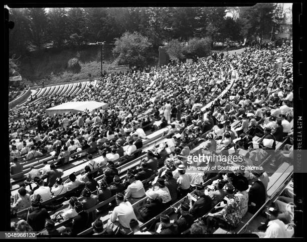 Legion, San Diego, 10 September 1951. Governor Earl Warren;Warren Atherton ;Lewis K Gough ;Dorothy Schmidt;Grace Rogers ;Zilda De Carlo ;Wilder D...