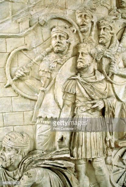 Legionaries Trajan's Column Rome Italy Trajan's Column was raised by Apollodorus of Damascus at the order of the Senate It is located in Trajan's...