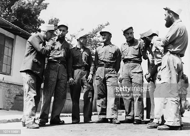 Legionary Group Celebrating The Battle Of Camaron Centenary In Camaron De Tajeda On April 23Rd 1963