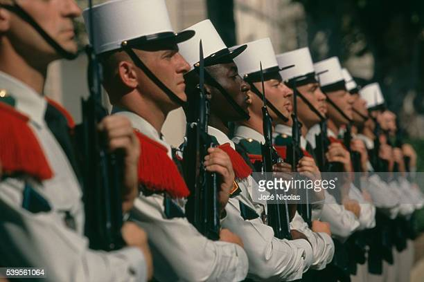 Legionnaires of the 2nd Foreign Infantry Regiment during a ceremony