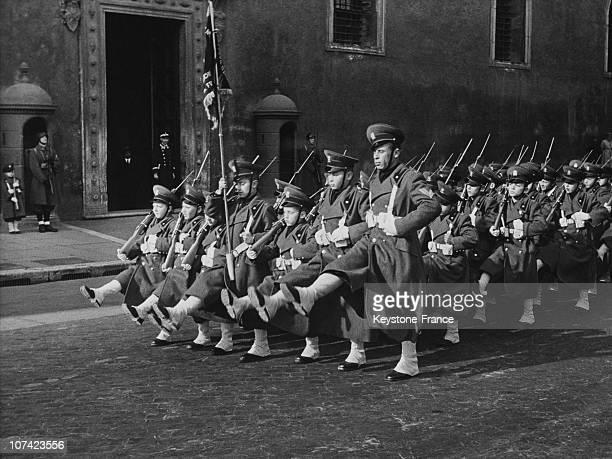 Legionnaires Parade At Palazzo Venezia In Rome