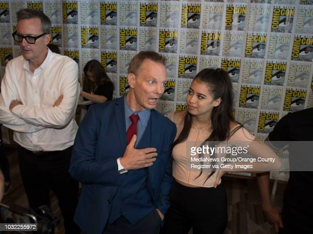 Legion's Bill Irwin and Amber Midthunder give interviews during ComicCon International at the San Diego Convention Center in San Diego CA on Thursday...